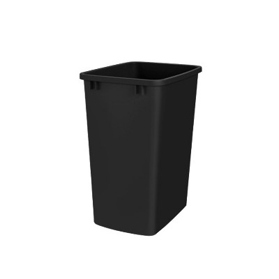 Rev-A-Shelf RV-35-17-52 35 Quart Plastic Replacement Waste Container Garbage Bin Trash Can for the Kitchen or Laundry Room, Black