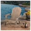 Hayle Reclining Wood Adirondack Chair With Footrest - Christopher Knight Home - image 2 of 4