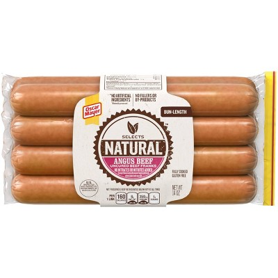 Oscar Mayer Selects Natural Angus Beef Uncured Beef Franks - 14oz