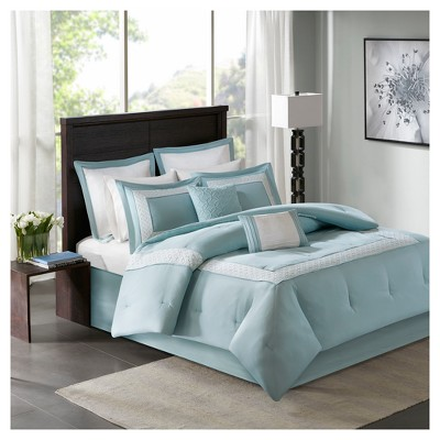 Heritage 8 Piece Comforter Bedding Set with Bedskirt