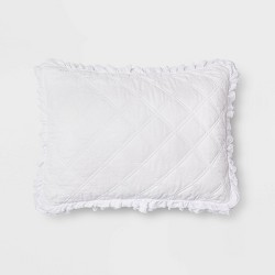 Vintage Washed Ruffle Quilt Pillow Sham - Threshold™