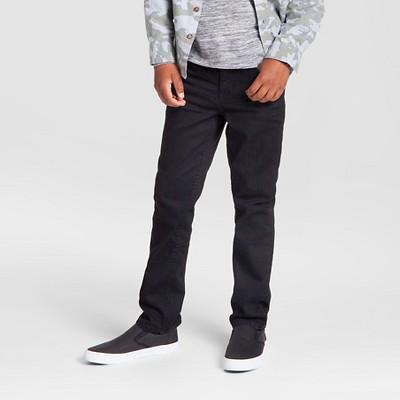 Boys' Stretch Straight Fit Jeans - Cat & Jack™ Black Wash