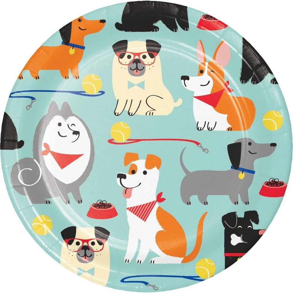24ct Dog Print Disposable Dessert Plates