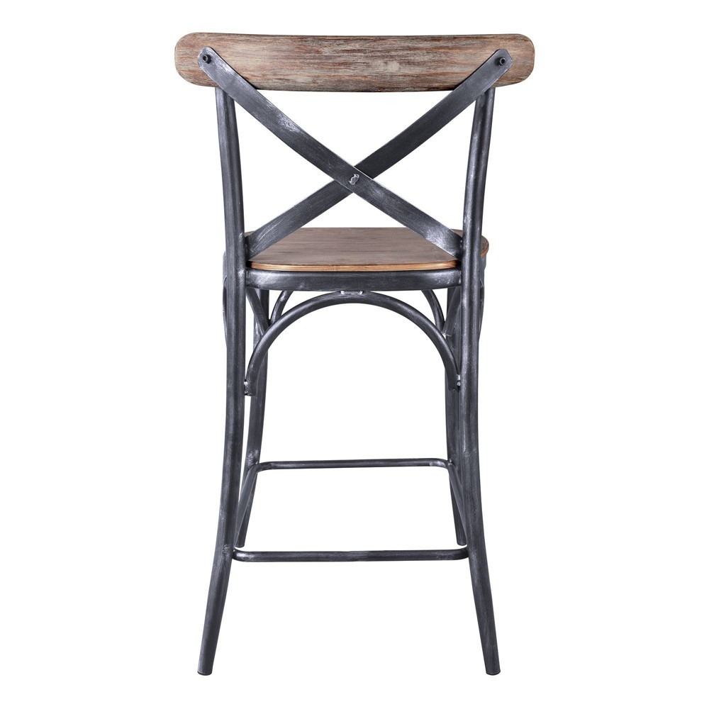 "Image of ""30"""" Catherine Industrial Counter Height Barstool Pine - Modern Home"""