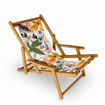 Marta Barragan Camarasa Abstract Strokes Still Life Sling Chair - Deny Designs
