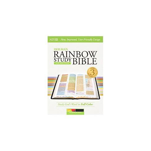 Holman Rainbow Study New International Version Kaleidoscope Black Leathertouch Indexed Target