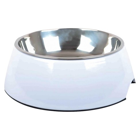 Melamine Cat and Dog Bowl - White - Boots & Barkley™ - image 1 of 1