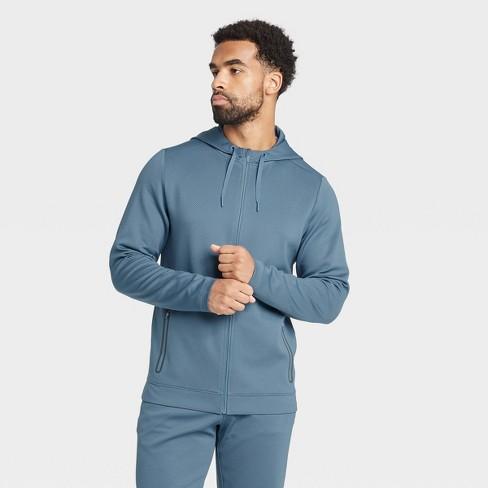 Men's Textured Fleece Premium Full-Zip Hoodie - All in Motion™ - image 1 of 4