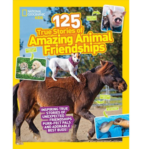 125 True Stories of Amazing Animal Friendships -  by Lisa M. Gerry (Paperback) - image 1 of 1
