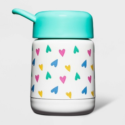 10oz Stainless Steel Heart Print Food Container - Cat & Jack™