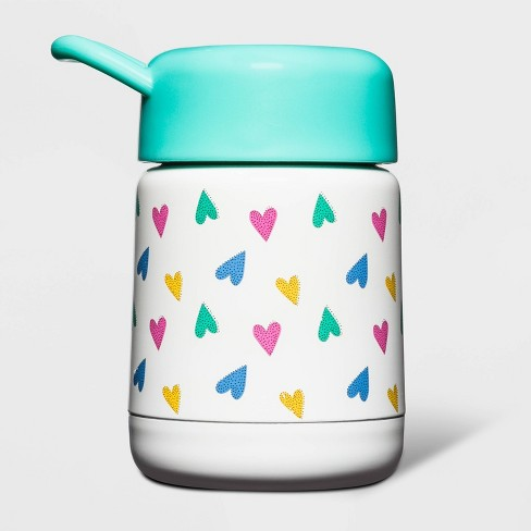10oz Stainless Steel Heart Print Food Container - Cat & Jack™ - image 1 of 1
