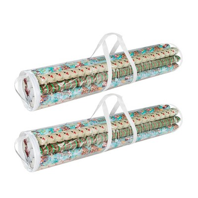 "Wrapping Paper and 2pk 40"" Gift Wrap Storage Bag Elf Stor"