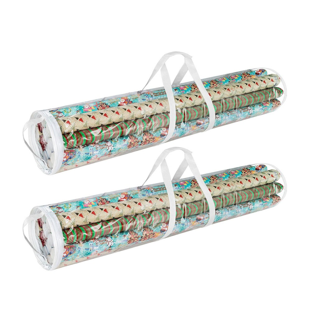 """Image of """"Wrapping Paper and 2pk 40"""""""" Gift Wrap Storage Bag Elf Stor, Clear"""""""