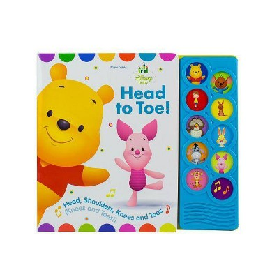 Disney Baby Winnie the Pooh - Head to Toe! Listen and Learn 10-Button Sound Board Book