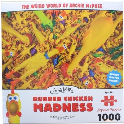 Accoutrements Rubber Chicken Madness 1000 Piece Jigsaw Puzzle
