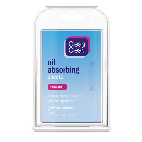 Clean & Clear Oil Absorbing Facial Blotting Sheets - 50ct - image 1 of 4