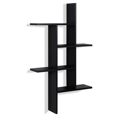 "40"" x 24"" Cantilever Wall Shelf Black - Danya B."