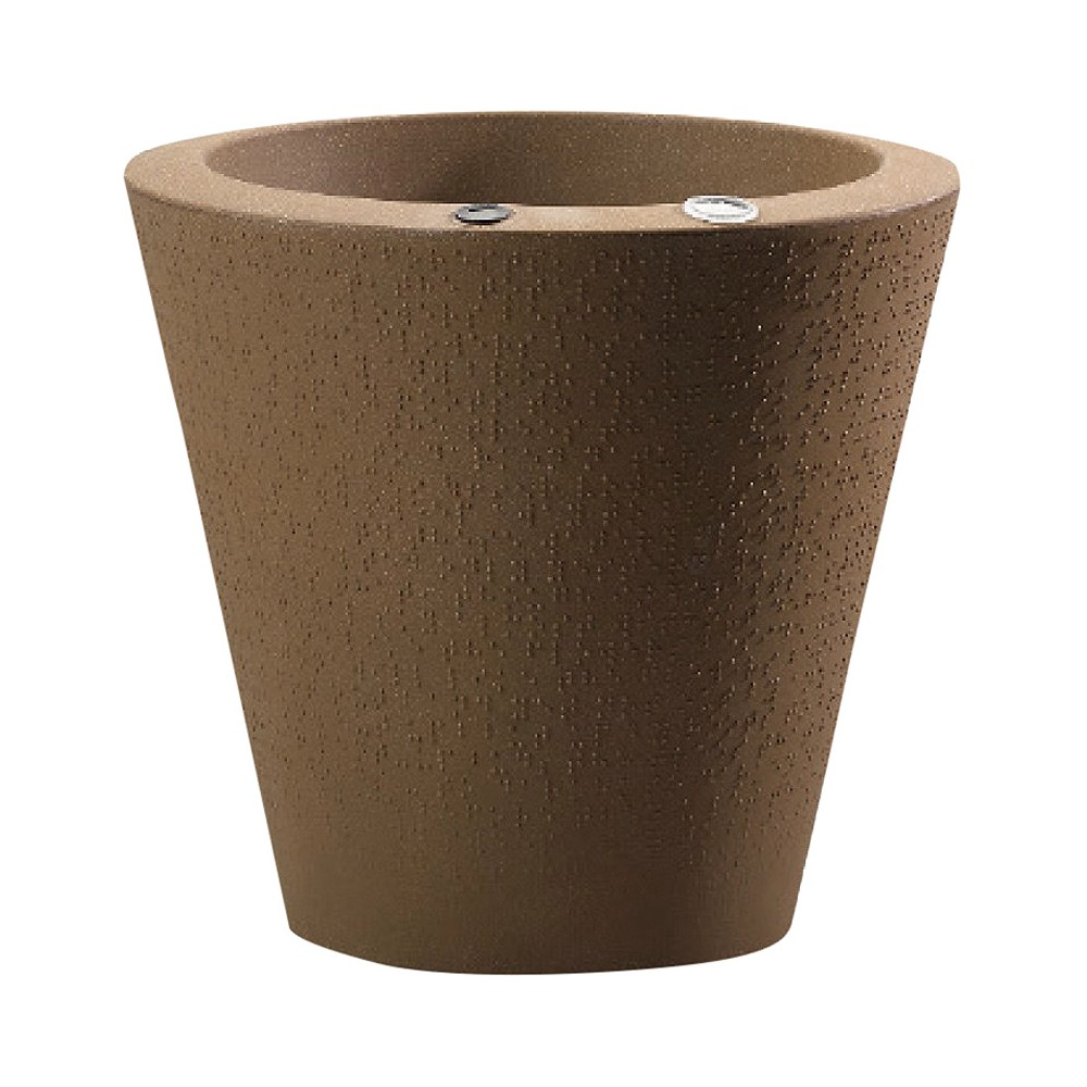 20'' Dot Planter - Mocha Black - Crescent Garden