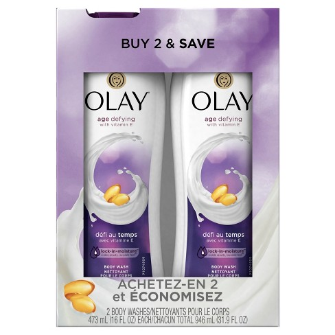 Olay Age Defying with Vitamin E Body Wash Twin Pack - 32oz - image 1 of 2