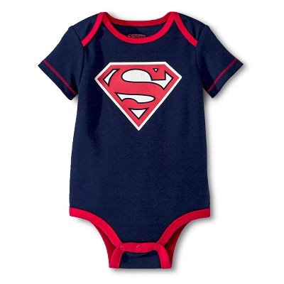 Superman Baby Boys' Bodysuit - Navy Newborn