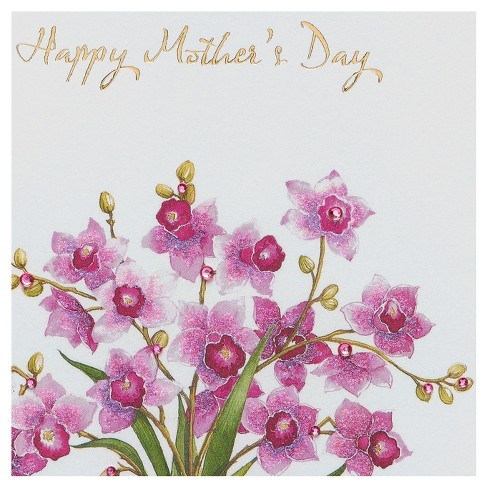 Papyrus orchids mothers day card with glitter target 1 more m4hsunfo