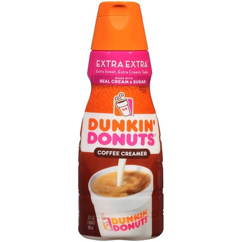 Dunkin' Donuts Extra Extra Coffee Creamer - 32 fl oz - image 1 of 4