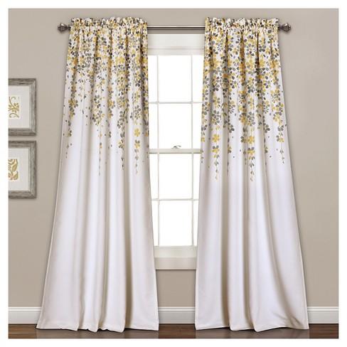 weeping flowers room darkening window curtain set target. Black Bedroom Furniture Sets. Home Design Ideas