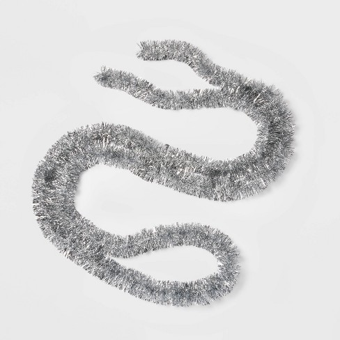 15ft Soft and Silky Christmas Garland Silver - Wondershop™ - image 1 of 1