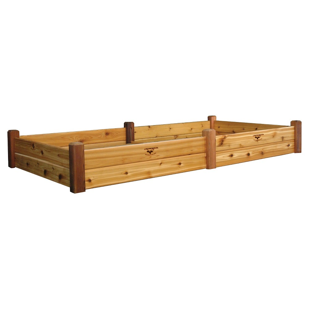 """Image of """"97"""""""" x 50"""""""" x 13"""""""" Raised Rectangular Garden Bed with Safe Finish - Western Red Cedar - Gronomics"""""""