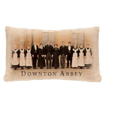 Heritage Lace 12 X 20 Rectangular Downton Abbey Cast British Indoor Throw Pillow Brown Black Target