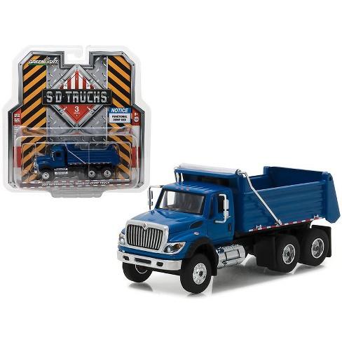 2017 International Workstar Construction Dump Truck Blue S.D. Trucks Series 3 1/64 Diecast Model by Greenlight - image 1 of 1