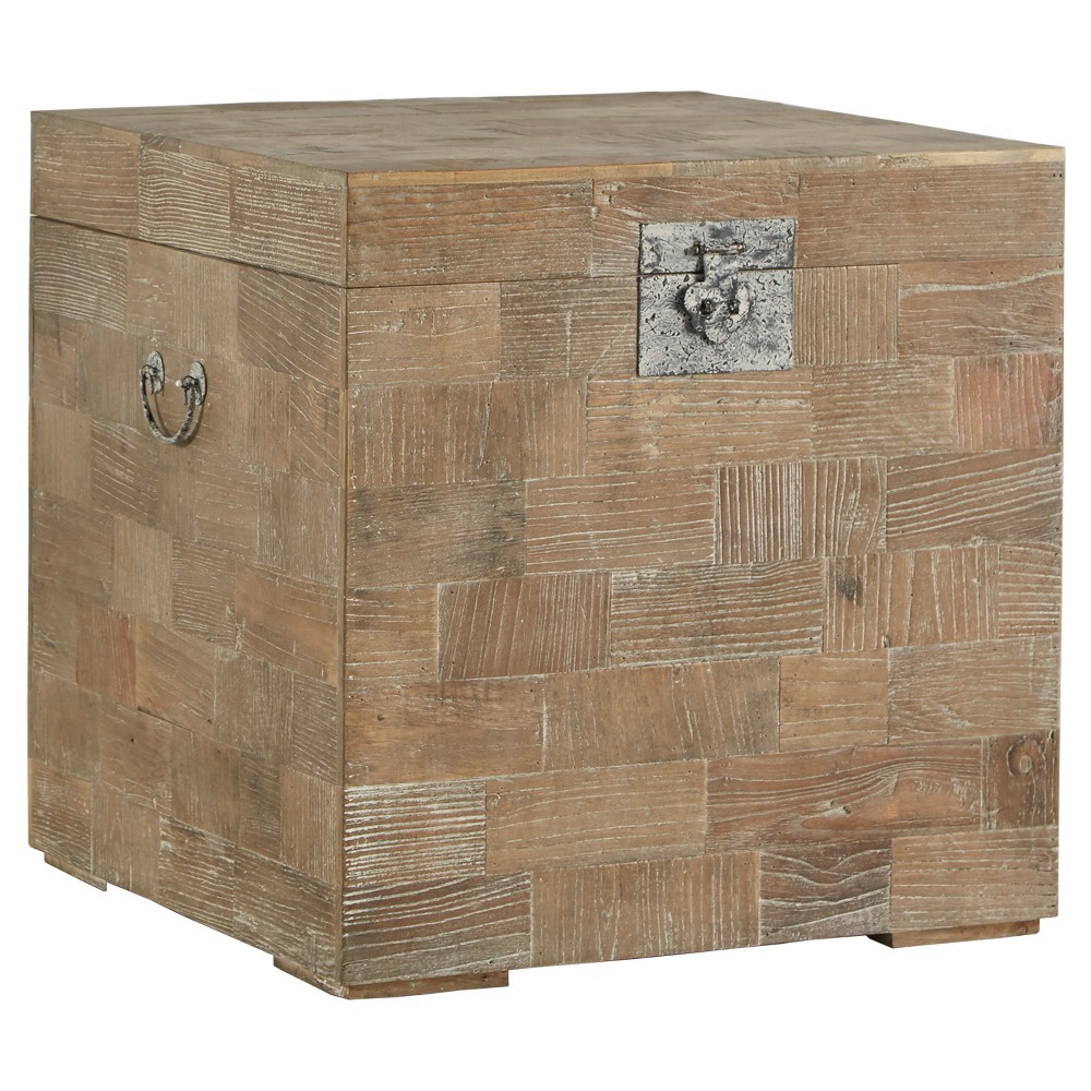 Rowena Reclaimed Wood Trunk Accent Table - Natural - Inspire Q
