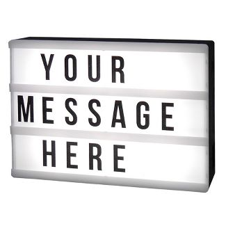 LED Message Light box with Changeable letters Black - Room Essentials™