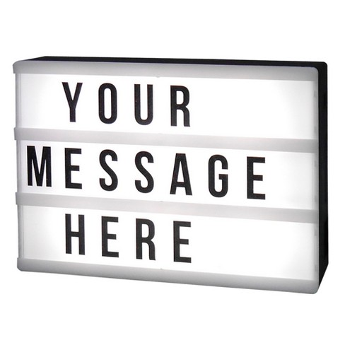 LED Message Light box with Changeable letters Black - Room Essentials™ - image 1 of 1