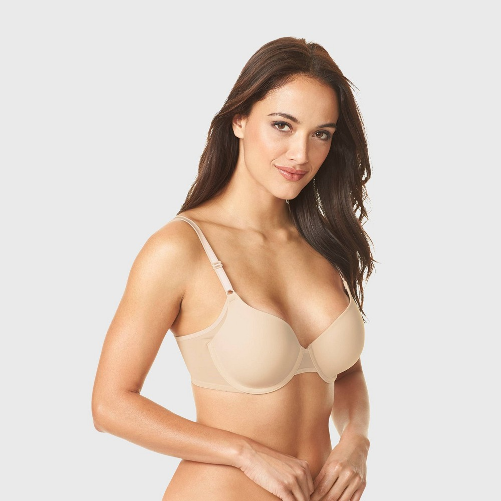 Simply Perfect By Warner 39 S Women 39 S Underarm Smoothing Mesh Underwire Bra Butterscotch 34d