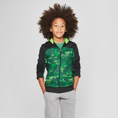 c893ce73 Boys' Printed Tech Fleece Full Zip Hoodie - C9 Champion® Green Camo ...