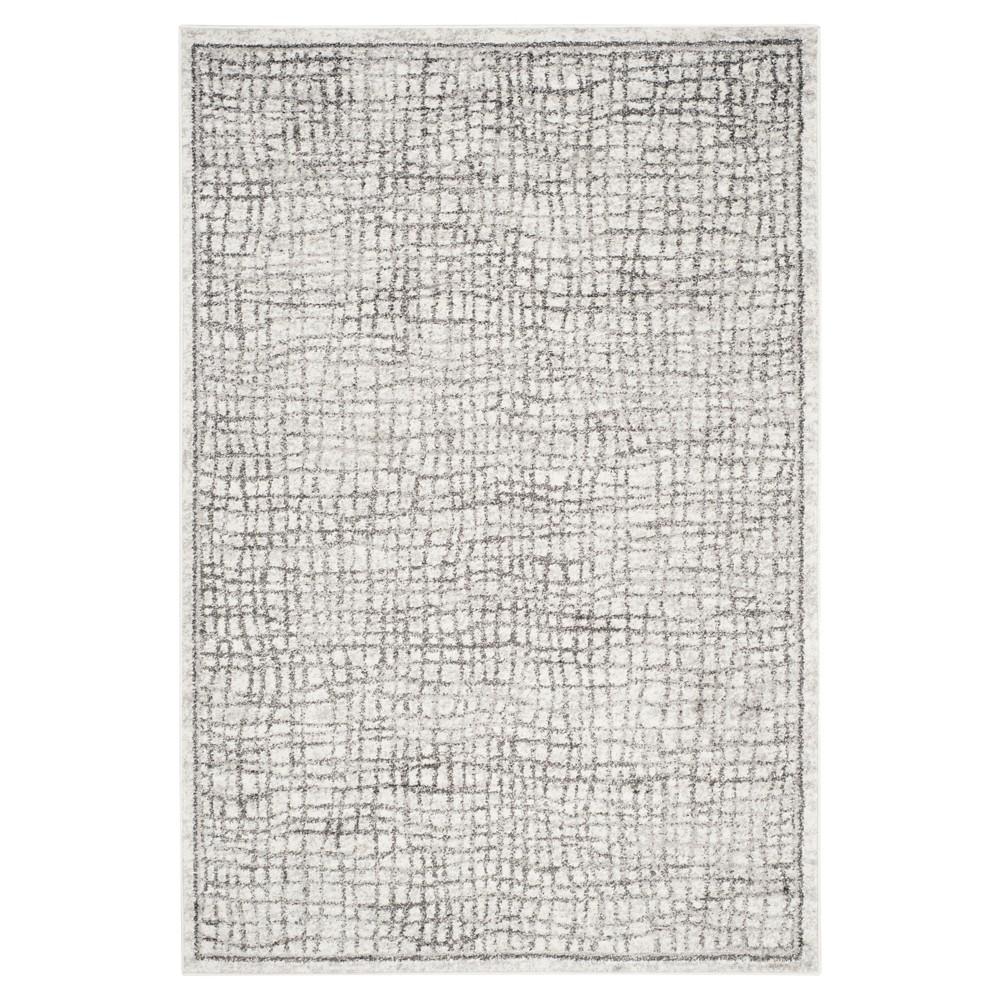 Adirondack Rug - Silver/Ivory - (5'1