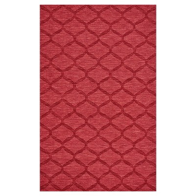 5'X8' Geometric Woven Area Rugs Red - Weave & Wander