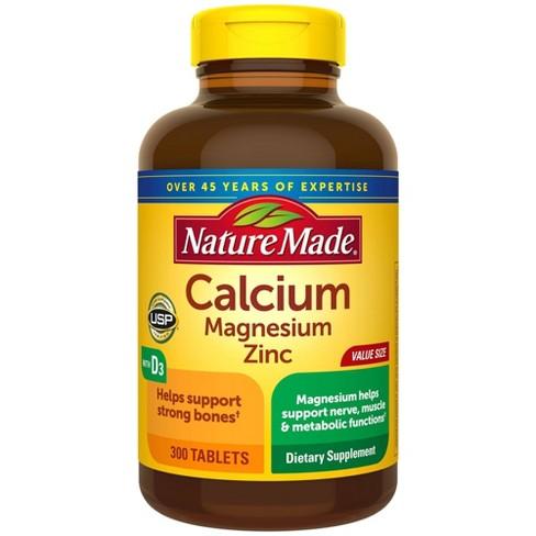 Nature Made Calcium - Magnesium Zinc with Vitamin D3 - 300ct - image 1 of 4