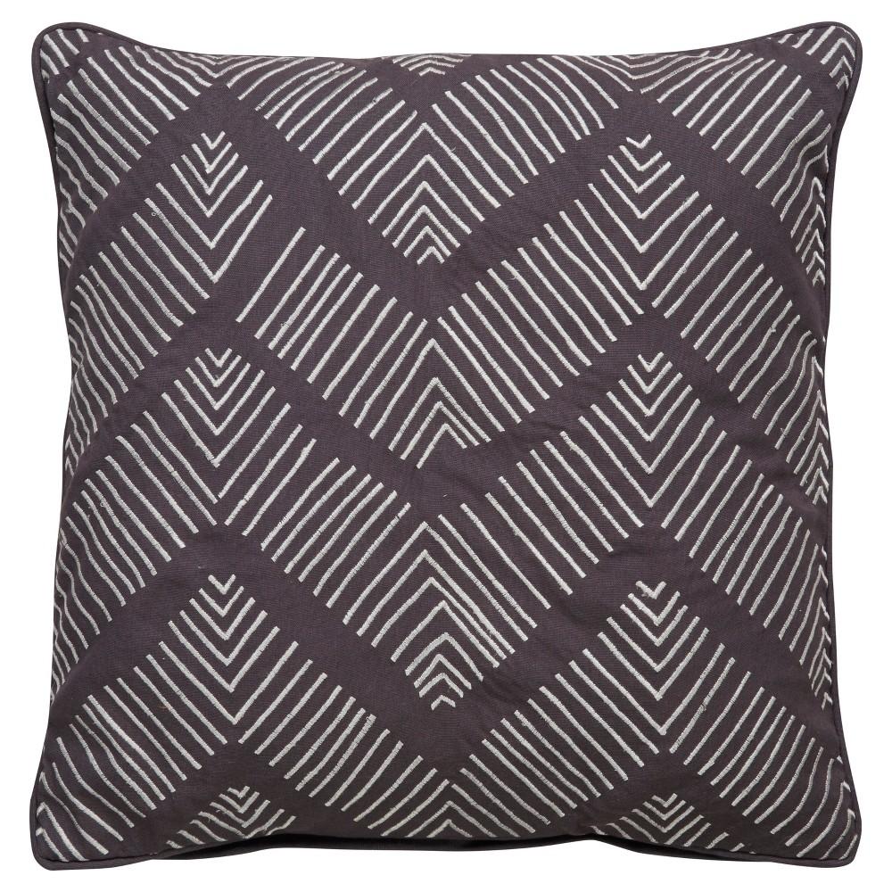 Gray Chevron Cosmic Throw Pillow Cover (22