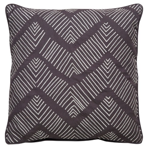 "Gray Chevron Cosmic Throw Pillow Cover (22""x22"") - Jaipur Living - image 1 of 1"