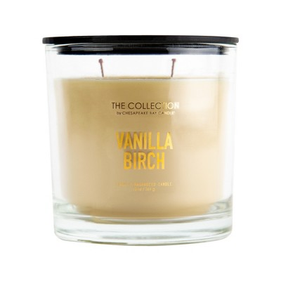 13oz Lidded Glass Jar 2-Wick Candle Vanilla Birch - The Collection By Chesapeake Bay Candle