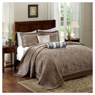 5pc Charlotte Jacquard Bedspread Set