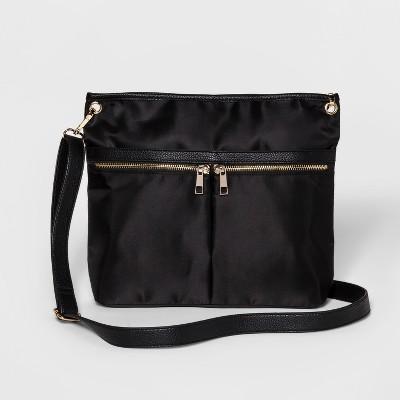6d31ce58f5 Nylon Messenger Crossbody Bag – A New Day™ Black – Target Inventory ...