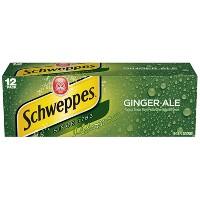 12-Pack Schweppes Ginger Ale 12fl oz Cans