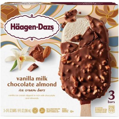 Haagen Dazs Vanilla & Almond Ice Cream Bar - 3pk