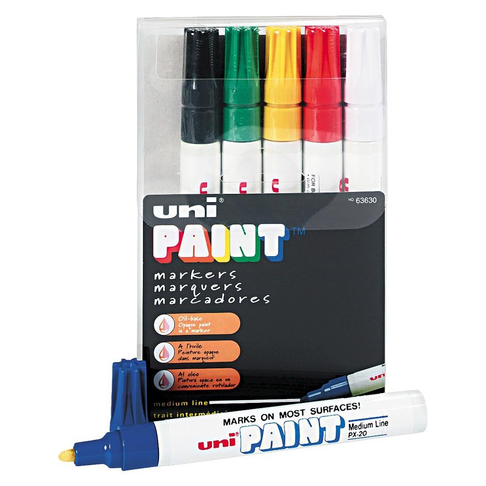 Image of Sanford uni-Paint Marker, Medium Point, Assorted, 6/Set