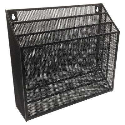 Metal Mesh Hanging File Sorter Black - Room Essentials™