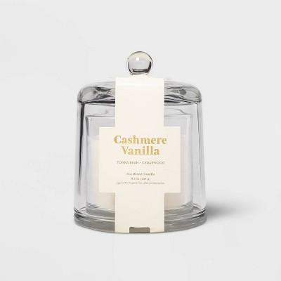 8.2oz Cloche Glass Jar Cashmere Vanilla Candle - Threshold™