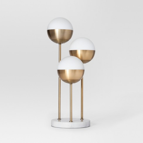 Geneva Triple Glass Globe Table Lamp Brass - Project 62™ - image 1 of 2